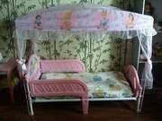 Кровать для девочки с шатром