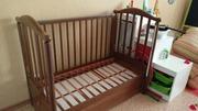 Детская кроватка массив бука